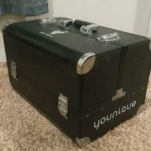 Younique makeup trunk with lock and key